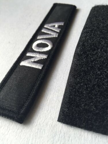 "Nome Tactical PATCH BADGE Merrow bordatura 5/""X 1/"" Gancio e linea chiusa Airsoft Paintball"