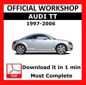 official workshop manual service repair audi tt 1997 2006 rh ebay com 2015 Audi TT 2001 audi tt service manual download
