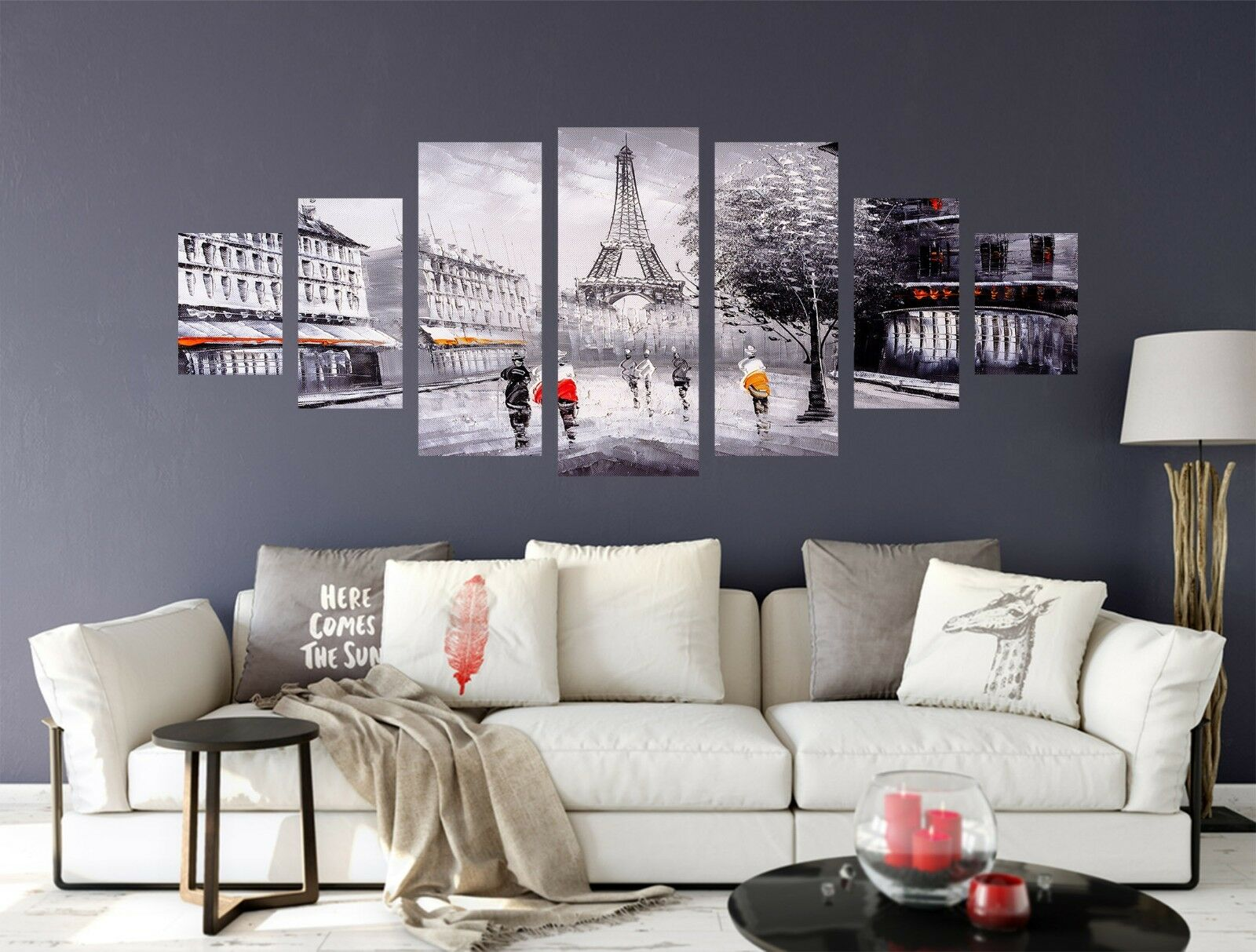 3D Street Eiffel 676 Unframed Print Wall Paper Decal Wall Deco Indoor AJ Wall