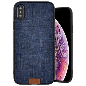 Details About Cover Original Case Noziroh Iphone Xs Max Blue Jeans Fabric Cloth Coloured