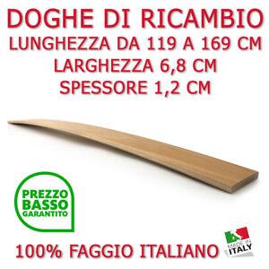 DOGA DOGHE DI RICAMBIO PER RETI -LETTI IN LEGNO-TUTTE LE MISURE-LARGHEZZA 6,8 CM