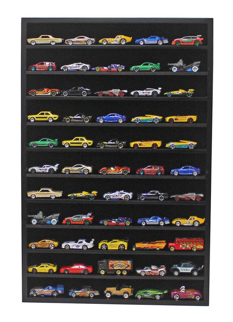 ofrecemos varias marcas famosas Hot Wheels 1 64 escala escala escala Diecast Vitrina parojo del gabinete Rack, ninguna puerta, HW10-BL  60% de descuento