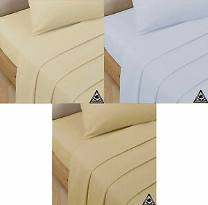 Luxury 200 Thread Count 100% Egyptian Cotton Fitted Sheets and Pillowcases