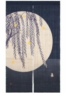 Kyoto-Noren-Japanese-door-curtain-Willow-and-firefly-Handcraft-Made-in-Japan