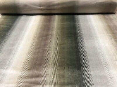 Laura Ashley Maya Faux Silk Truffle colour Curtain Fabric Price Per metre