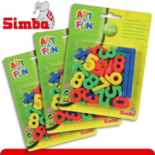 Simba 3x Magnet-Zahlen Mathe addieren lernen Schule rechnen Kinder Tafel Spiel