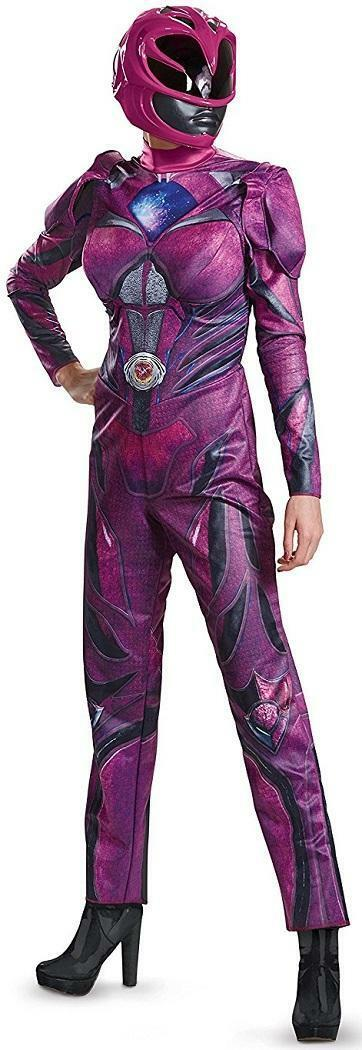 Saban's Power Rangers Movie Pink Ranger Fancy Dress Halloween Deluxe Adult Costume