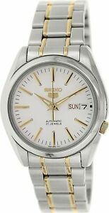 Seiko-5-Silver-Gold-Tone-Stainless-Steel-Automatic-Watch-SNKL47K1