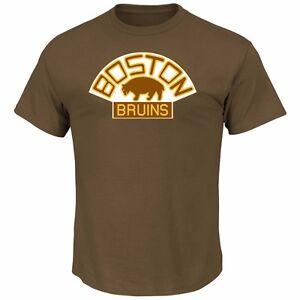 Weitere Wintersportarten NHL Eishockey T-Shirt BOSTON BRUINS Vintage Tek Patch Logo von Majestic Eishockey