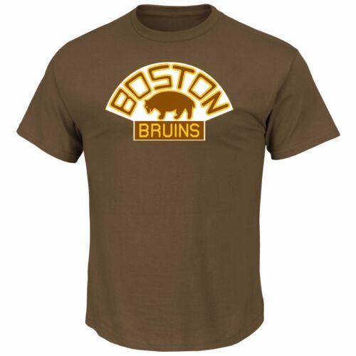 NHL Eishockey T-Shirt BOSTON BRUINS Vintage Tek Patch Logo von Majestic Fanartikel Eishockey