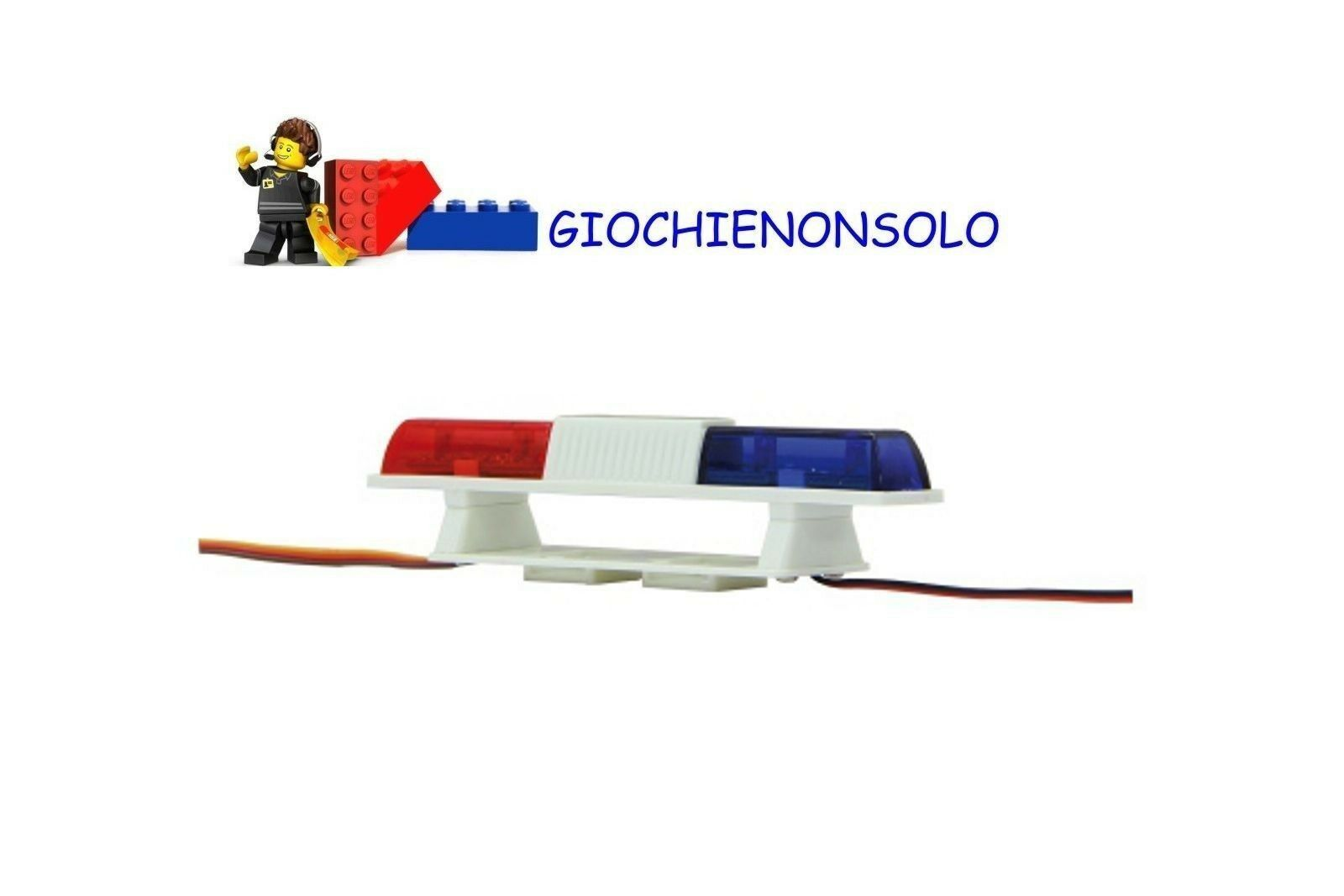 JAMARA 505507 - Car LED - Avvisatore doppio ang. ros blue