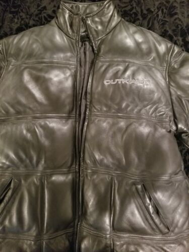 OUTKAST leather jacket size XL. Black worn very li