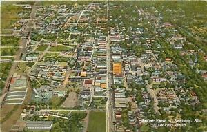 Anniston-Alabama-Aerial-Looking-North-Downtown-Business-Homes-1943-Postcard