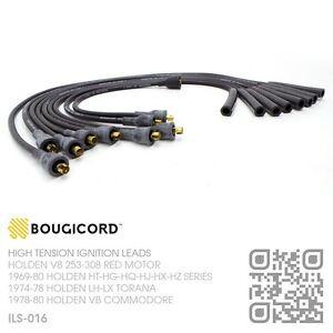BOUGICORD-IGNITION-LEADS-V8-253-308-RED-MOTOR-HOLDEN-LH-LX-TORANA-SLR-5000-A9X