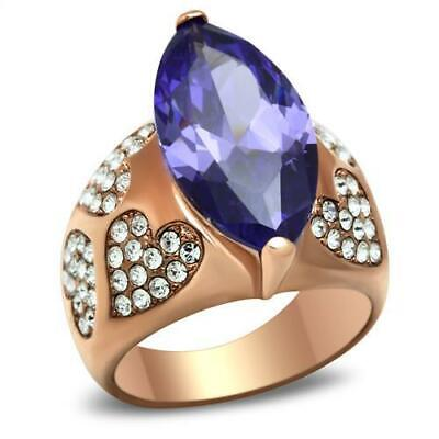 1545 PAVE COMFORT DESIGNER SIMULATED DIAMOND PRETTY RING STEEL GOLD