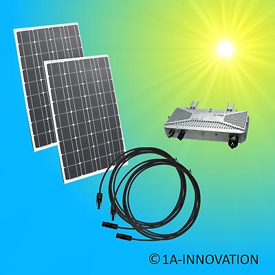 Solaranlage Komplettpaket 200watt 0,2 Kw Solar Anlage Hausnetzeinspeisung Plug Strong Resistance To Heat And Hard Wearing Heimwerker