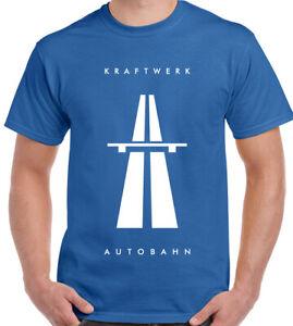 Kraftwerk-Autobahn-T-Shirt-Mens-Elecro-Music-Unisex-Top-Autobarn-Band