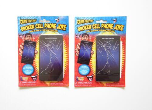 4 NEW BROKEN CELL PHONE SCREENS FAKE CRACKED CLINGS DECALS JOKE GAG GIFT PRANK