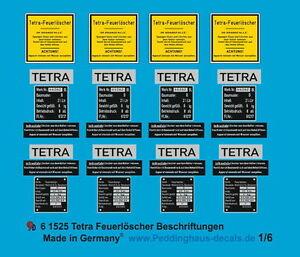 Peddinghaus 1//6 1525 Tetra Estintore Scritte
