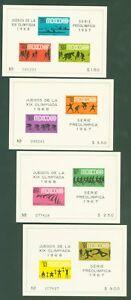 Mexico 1967 - Sport Radsport Gewichtheben Fußball Olympia 1968 - Block 7-10 **