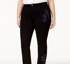b59c2da8593 Charter Club Plus Size Lexington Tummy-control Embroidered Straight-leg  Jeans 16