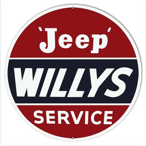 X-Large Jeep Willys Gas Station Metal Sign 30x30