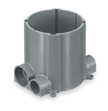 100.0 Cu Hubbell Wiring Device-Kellems S1pfb Floor Box,Pvc,2-Gang In.