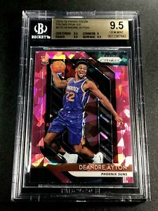 DEANDRE-AYTON-2018-PANINI-PRIZM-279-PINK-ICE-REFRACTOR-ROOKIE-RC-BGS-9-5-A