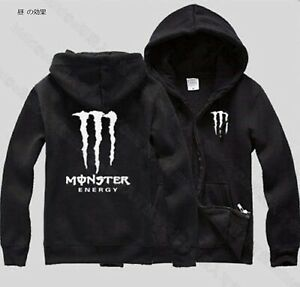 Monster-Energy-Black-x-Green-Hoodie-Parker-Light-emission-fluorescence-S-XXL