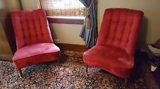 Pair of Vintage Armless Slipper Chairs