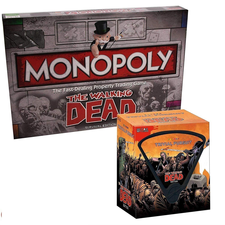 Walking Dead-MONOPOLE & Trivial Pursuit ensemble Combo Deal Cadeau