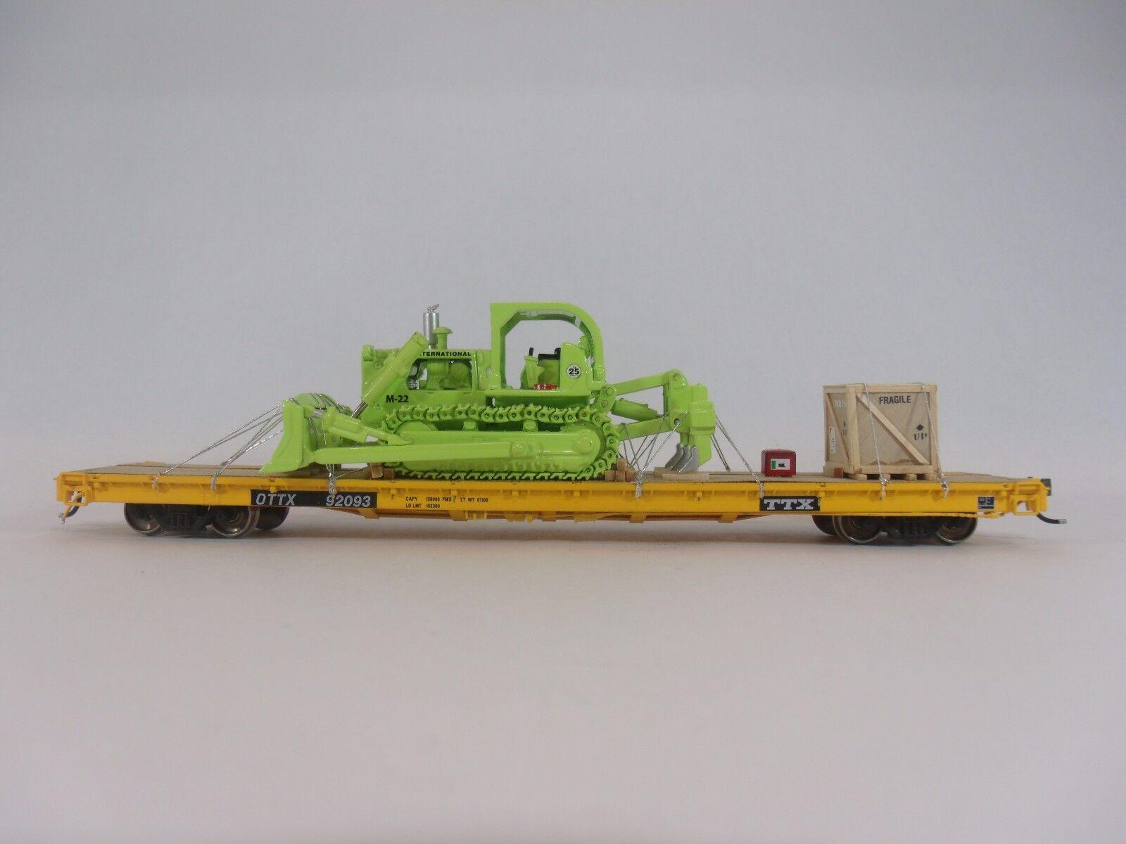 Escala Ho Maqueta De Ferrocarriles-Carga De Coche de carga
