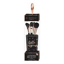 Hello Gorgeous 5 Piece Make Up Contour Brush Set Gift Girls Holder Pot Gift Set