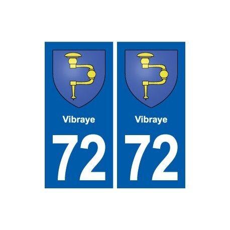 72 Vibraye blason autocollant plaque stickers ville arrondis