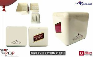 Johnnie-Walker-RED-Label-Vintage-1970-039-s-Ice-Bucket-7-034-Cream-EX-039-Cond-Made-in-UK