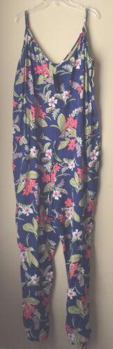 Jumpsuit Lauren Floral color Navy Ralph Polo Xl Multi Polynesian PxS0xBq