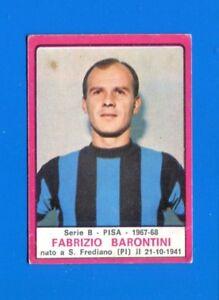 PISA GASPARRONI figurina CALCIATORI PANINI 1967//68 REC
