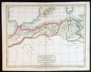 1830 Sydney Hall Antique Map North Africa Spain Ebay