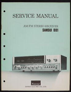 Sansui-881-Original-AM-FM-Stereo-Receiver-Service-Manual-Diagram-O152