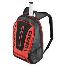 HEAD TOUR TEAM BACKPACK BLACK RED IDEAL FOR TENNIS SQUASH BADMINTON OR TRAVEL
