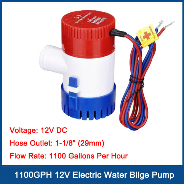 Auto Electric DC 12V Water Pump Water Bilge Pump 1100GPH Submersible For Marine
