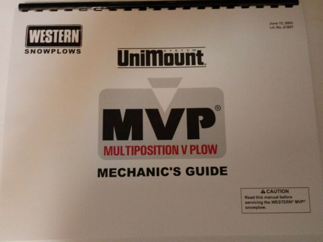 Western Mechanics Guide Books 1 MVP 21857 3 Cable Control 62880 on