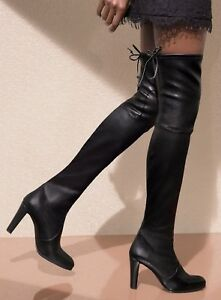 b95e143091c Details about NEW Stuart Weitzman Highland Over-the-Knee boot Shoe #88560,  Black Leather, $875
