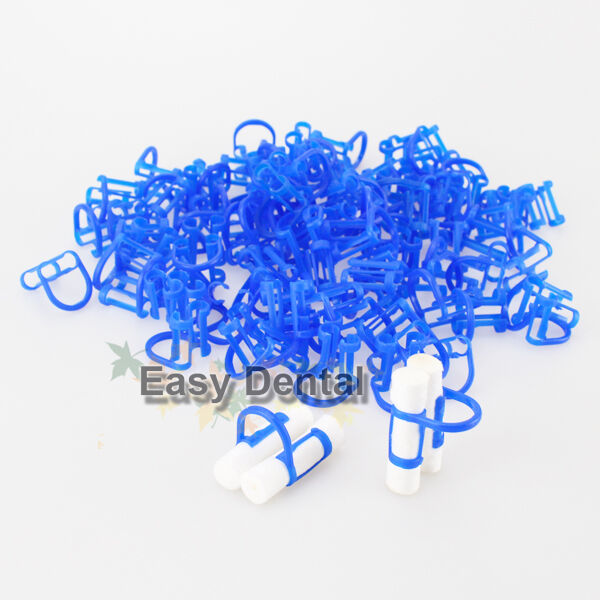 100pcs Cotton Roll Holder Disposable Clip for Dental Clinic FREE SHIP