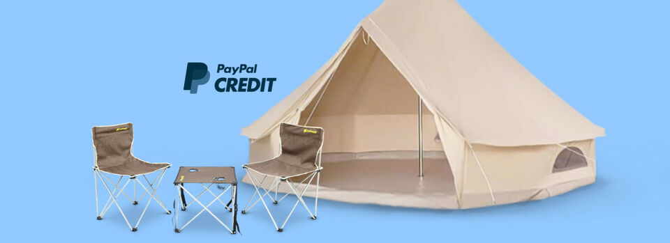 Camping or glamping? Pay over time.