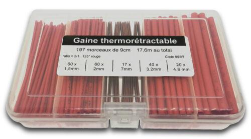995# assortiment de gaine thermo rétractable en boîte 1,5 à 7mm