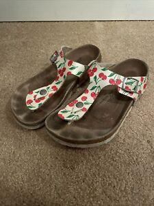 Papillio Birkenstock cherry thong gizeh Sandals Women's Size EU 39/L8