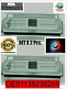 Genuine-BMW-E46-Compact-License-Plate-Light-Lens-Covers-2pcs-51138236269