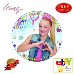 Image Is Loading JOJO SIWA Personalized Edible Icing Cake Toppers Various