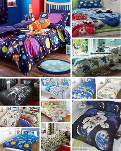 Boy-039-s-Quilt-Duvet-Cover-Bedding-Bed-Sets-Single-or-Double-Sizes-Kid-039-s-Bed-linen